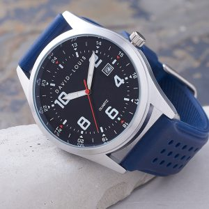Atlantic Blue Strap Personalised Customised Watch by David-Louis