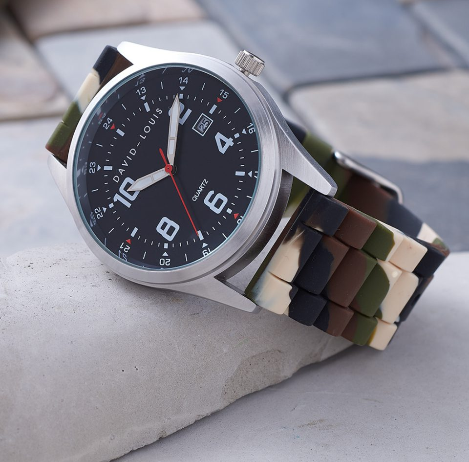Personalised Camo Watch by David-Louis