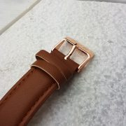 Rose Gold Watch buckle detail