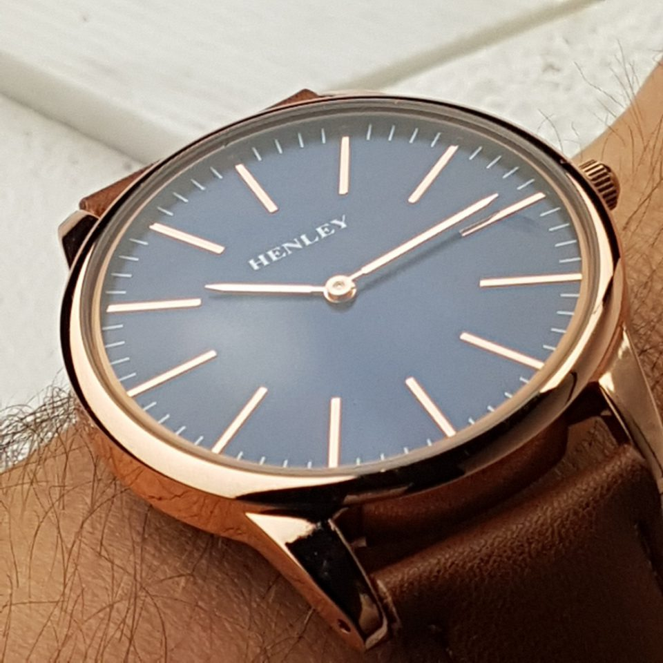 Discreetly Personalised Rose Gold Mens Watch